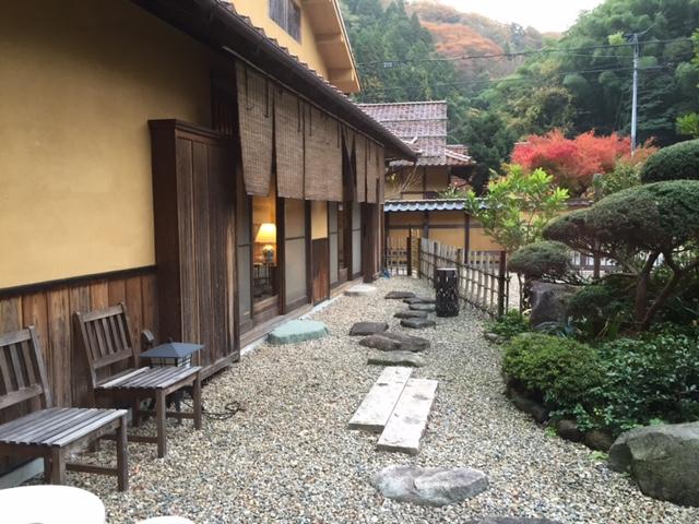 traditional Japanese garden, Yuzuriha, Japanese inn, Iwami Ginzan, Shimane, Japan